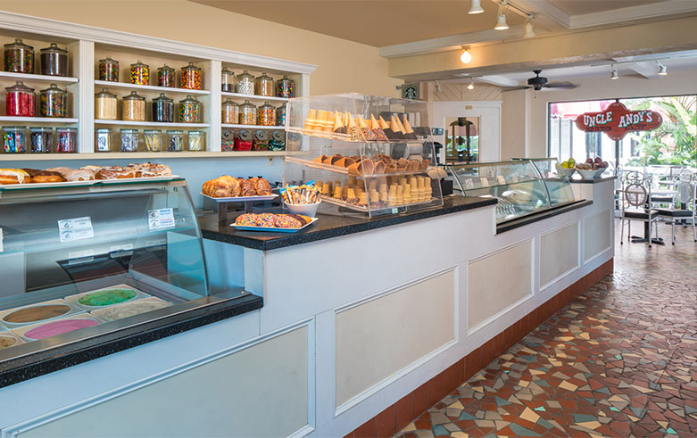 The Don CeSar Hotel, Uncle Andy's Ice Cream Parlor