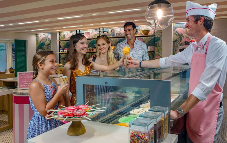 Enjoy Hand Dipped Ice Cream in Uncle Andy's Ice Cream Parlor