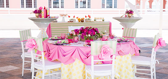 The Don CeSar Hotel offering Carter's Floral & Wedding Décor